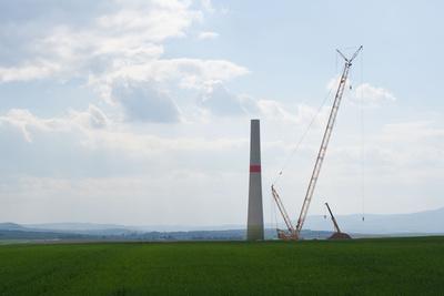 Uwe Leonhardt und der Bau einer Windanlage